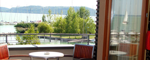 Hotel Silver Resort Balatonfüred - Balatoni panoráma a szoba teraszról